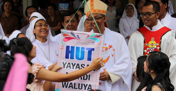 """Lustrum XI HUT Yayasan Mardi Waluya Sukabumi ke-55 """"Mengapa Membawa Obor di Siang Hari ?"""""""