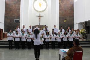 Peserta lomba koor dari wilayah St. Markus