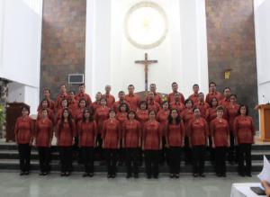 Peserta lomba koor dari Wilayah St. Petrus