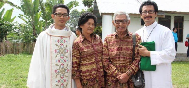 Misa Perdana Di Desa Sindang Jati, Bengkulu