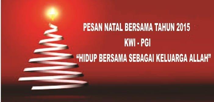 Pesan Natal 2015
