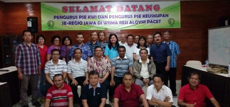 Pertemuan Komisi PSE Se-Regio Jawa di Wisma Aloy Resi Pacet, Surabaya.
