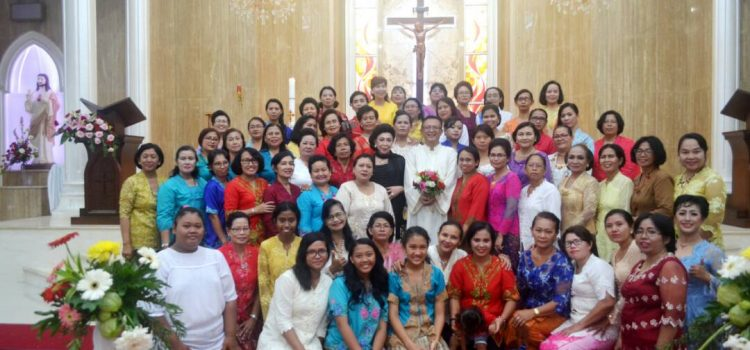 """Perayaan Paskah dan Hari Kartini Wanita Katolik RI Cabang """"Kristus Raja"""" Serang"""