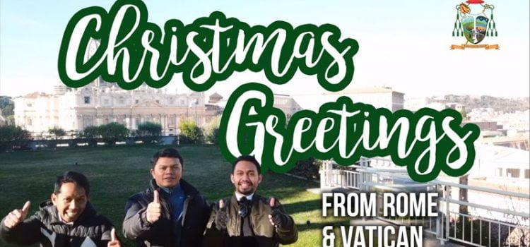 Ucapan Natal 2017 – Pastor & Frater Keuskupan Bogor di Roma